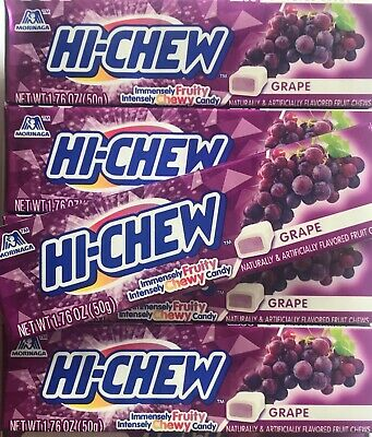 Hi-Chew Grape Japanese Chewy Fruit Candy 6 PACKS FAST SHIPPING - Chewy Candy