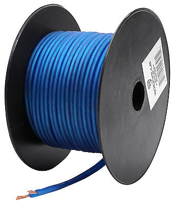 Rockville R14GBLU50 Blue 14 Gauge 50' Foot Mini Spool Car Audio Speaker Wire