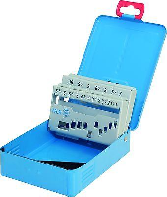 Profesional Cassette Azul Metal-Deposito Vacío Para 19 Broca 1,0-10,0 X 0,5MM