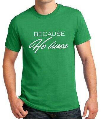 Because He Lives T Shirt Jesus Shirt He is Risen T-Shirt Easter Sunday Outfit - He Lives He Lives