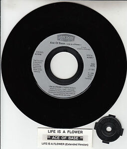 ACE-OF-BASE-Life-Is-A-Flower-7-45-rpm-record-juke-box-title-strip-RARE