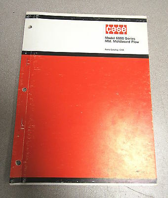 Case 6000 Series Mounted Moldboard Plow Parts Catalog Manual 1266