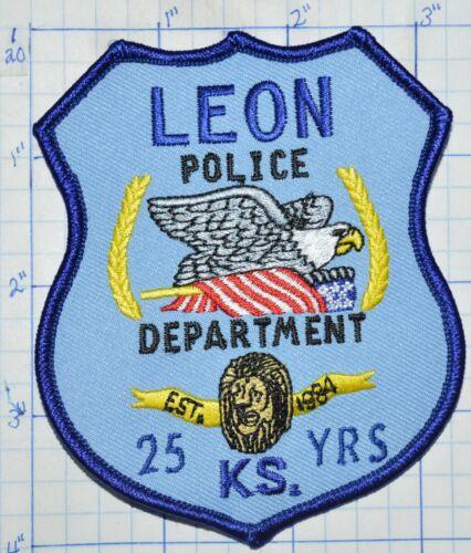 KANSAS, LEON POLICE DEPT PATCH