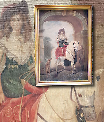 Equestrian Portrait after Sir John Everett Millais. Ölgemälde sign. B. BELLINI ()