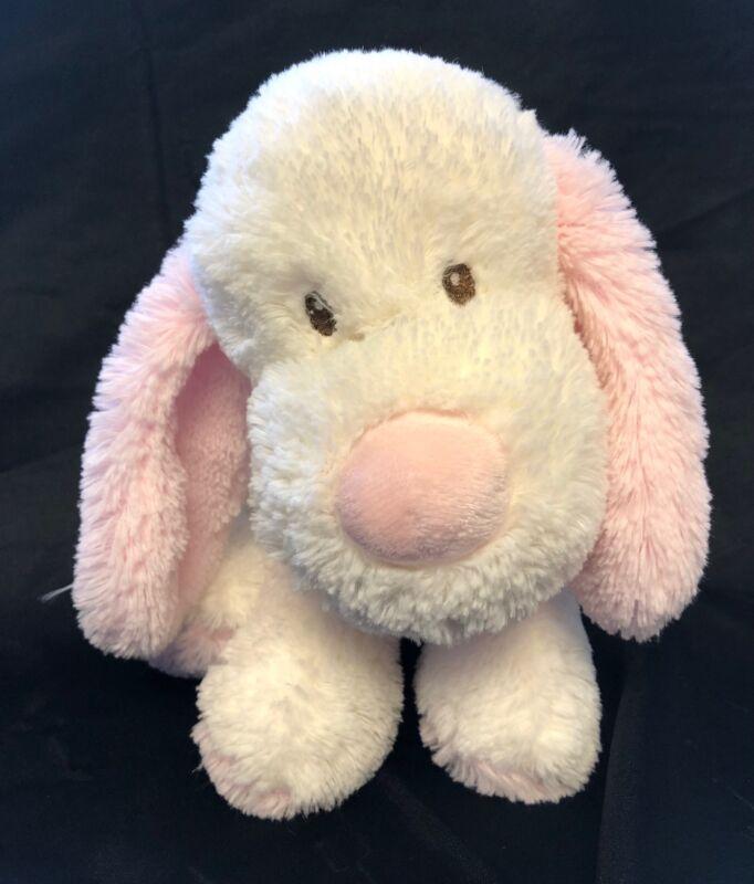 "Animal Alley PUPPY DOG Cream White Pink 10"" Plush Toys R Us 2017 Stuffed"