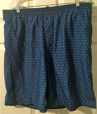 THE NORTH FACE MENS SWIMSUIT OR SHORTS-SIZE LARGE-BLUE/BLACK DESIGN-MESH LINING Mesh Mens Swimsuit