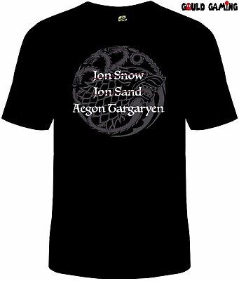 Game Of Thrones Aegon Targaryen T Shirt Cotton Jon Sand Jon Snow New