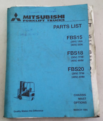 Mitsubishi Electric Forklift Parts Manual Fbs15-18-20