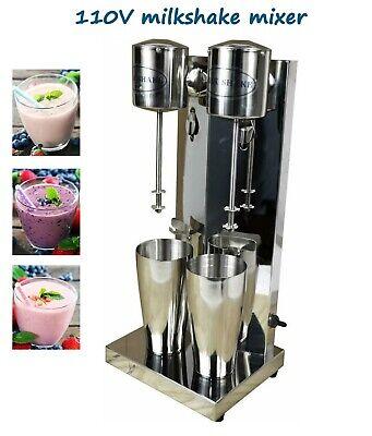 Commercial Double Head Milkshake Mixer Milk Shake Maker Blender Machine 110v