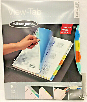 Wilson Jones 55567 View-tab Transparent Index Dividers 8-tab Letter5 Setsbox