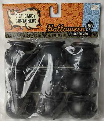 9 pc Mini Halloween Witch Cauldron Cups, candy treat container, party favor NEW!