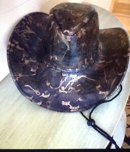 Camo cowboy hat pleather type material $10