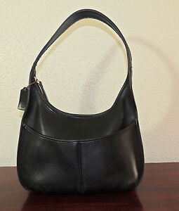 Coach 9033 Large Black Leather Ergo Hobo Handbag,Made in USA.Pre-Owned.