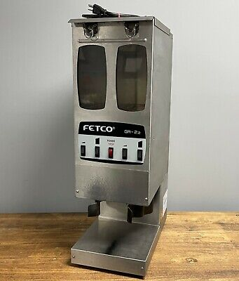 Fetco Gr-2.2 Commercial Coffee Grinder Stainless 1ph 5.7a 120v Dual Hopper