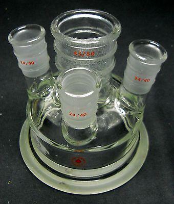 Ace Glass 4550 2440 4-neck Reaction Vessel Head Lid W 100mm Schott Flange