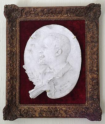 """CHARPENTIER Félix (1858-1924) """"Médaillon du peintre Paul SAÏN """" Avignon"""