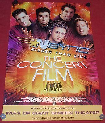 NSYNC Original Concert Film Promo Rolled Poster 24x36 NEW Justin Timberlake