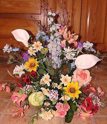 - Mom Cremation Service Urn Holder Silk Arrangement Garden Funeral Memorial Spray