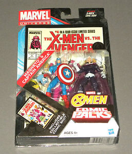 Marvel-Comic-2-Packs-Magneto-amp-Captain-America-Figure-X-Men-vs-The-Avengers-NEW