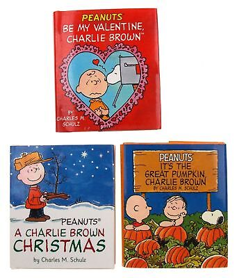 Peanuts Holiday Set 3 Mini Books Charlie Brown Christmas Halloween Valentine Day](Halloween Mini Books)