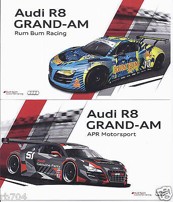 2013 Rolex 24 Daytona Set of 2 Audi R8 Cards  GT Winners