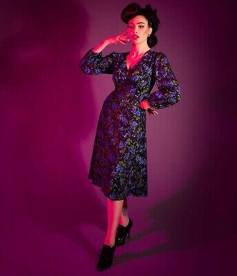 3-day sale! Micheline Pitt Unique Vintage Floral Origami Pris Dress L 14 16 XL