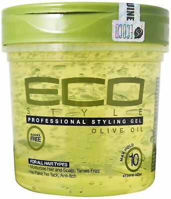 ECO Styler Professional Styling Gel, Olive Oil, Max Hold 10, 16 oz (Pack of 2)