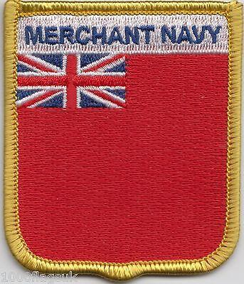 Merchant Marine Rot Flagge Velours Mantel Flagge Besticktes Abzeichen