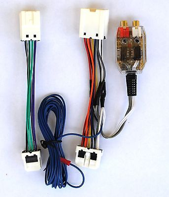 Factory Radio Add A Amp Sub Converter Bass Inline Plug & Play Harness (Factory Radio Interface)