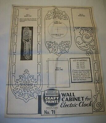 Science & Mechanics Craft Prints - Wall Cabinet for Electric Clock Pattern #71 for sale  Ferdinand