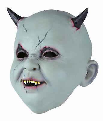 Scary Halloween Costumes Babies (Mens Halloween Horror Fancy Dress Party Costume Scary Horn Latex Baby Devil)