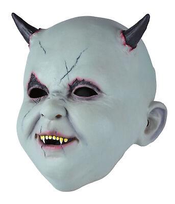 Herren Halloween Horror Party Kostüm Scary Hupe Latex Baby Teufelsmaske