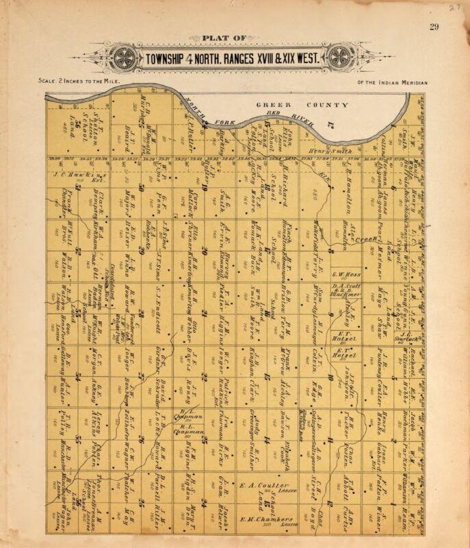 KIOWA COUNTY OKLAHOMA Atlas 1913 plat maps GENEALOGY history DVD P143