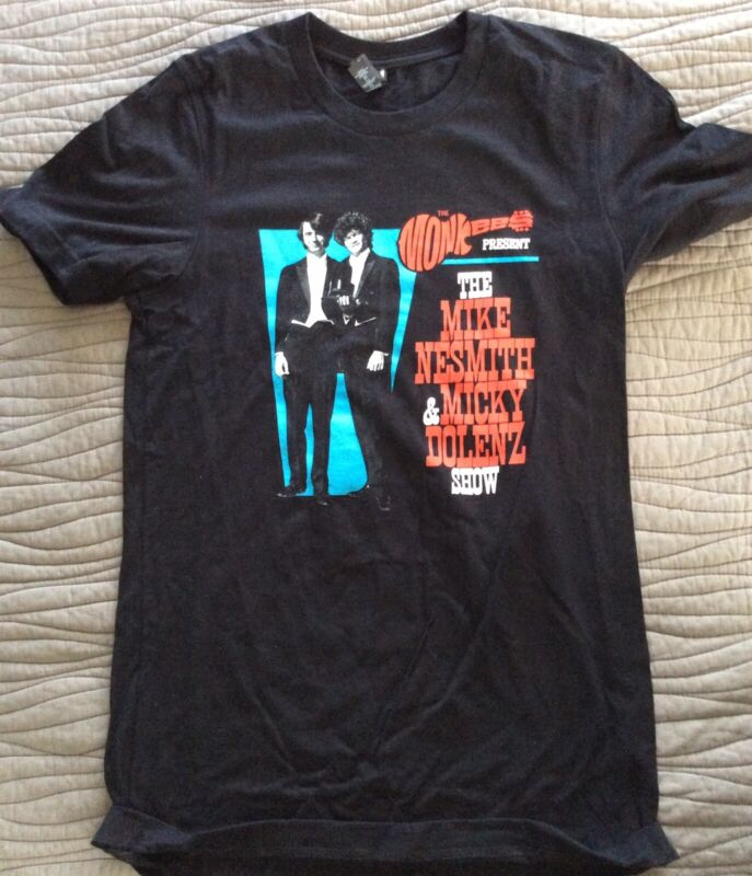The Monkees, Nesmith & Dolenz Show Tour T-shirt, 2019, Small, New