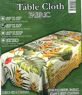 Nice Tropical flora Flower Hawaiian Water Resist  Quilt Print Tablecloth 4 size