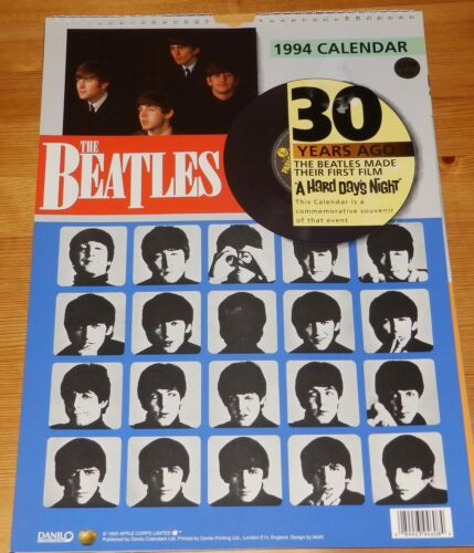 Beatles Danilo Calendar 1994 Hard Days Night 25th Anniversary Like New