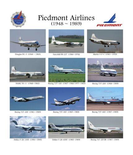 """Piedmont Airlines Fleet ((16""""x20"""")) Print"""