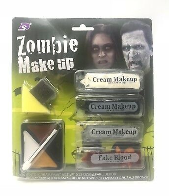 Halloween Make Up Set Zombie Pirat Gesichtsfarbe Halloween Kostüm Gesichtsfarbe