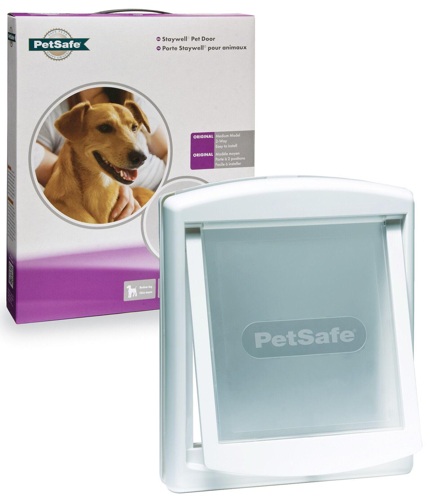 Staywell Petsafe 740 Medium Dog Flap Pet Door White 2 Way Locking