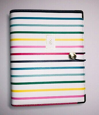 Emily Ley Planner Cover Binder Only - Sheet Size 5.5 X 8.5 - Happy Stripe