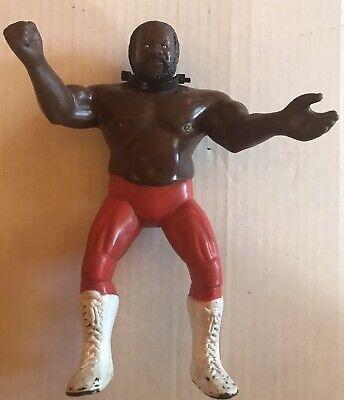 """WWF WWE Vintage JYD Junk Yard Dog LJN 1984 8"""" Wrestling Figure With Collar Good"""