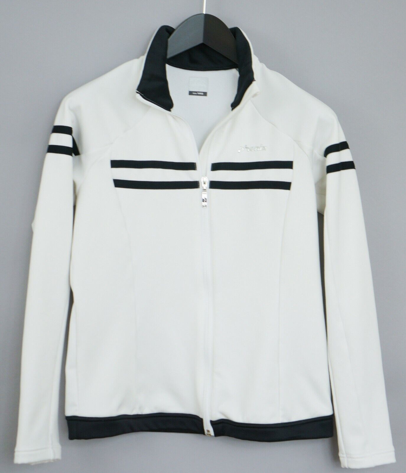 Détails sur Femme Phenix Piste Veste de Sport Vêtements Blanc Fermeture avant S UK10 XKM863