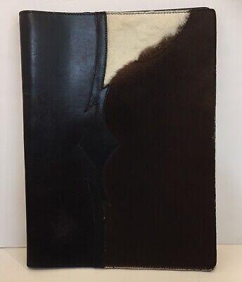 Appaloosa Leather Folder Padfolio Portfolio Western Cowhair Unique Rare
