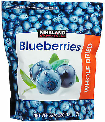 Kirkland Signature Whole Dried Blueberries Plump Sweet Blueberry 20 OZ