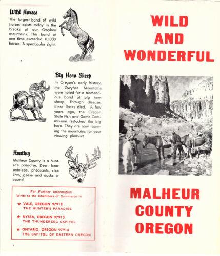 Malheur County Oregon Vintage Brochure B&W Photos Map Keyed to Recreation Areas