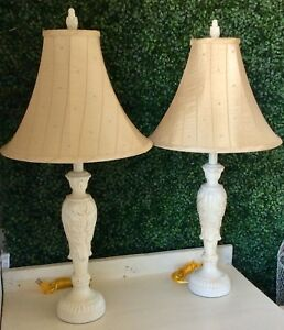 Set of tall table lamps
