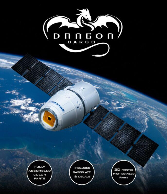 DRAGON Cargo Plastic model Capsule SpaceX Spacecraft 3D Print