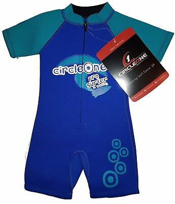 36fbc1c58b Front Zip GIRLS CHILDS WETSUIT SHORTY boys 1 year CHILDREN KID SHORTIE Blue