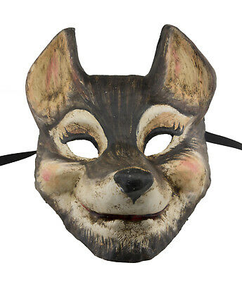 Mask Venetian Le Grand Villain Wolf-paper Mache -disguise - 1818 X24