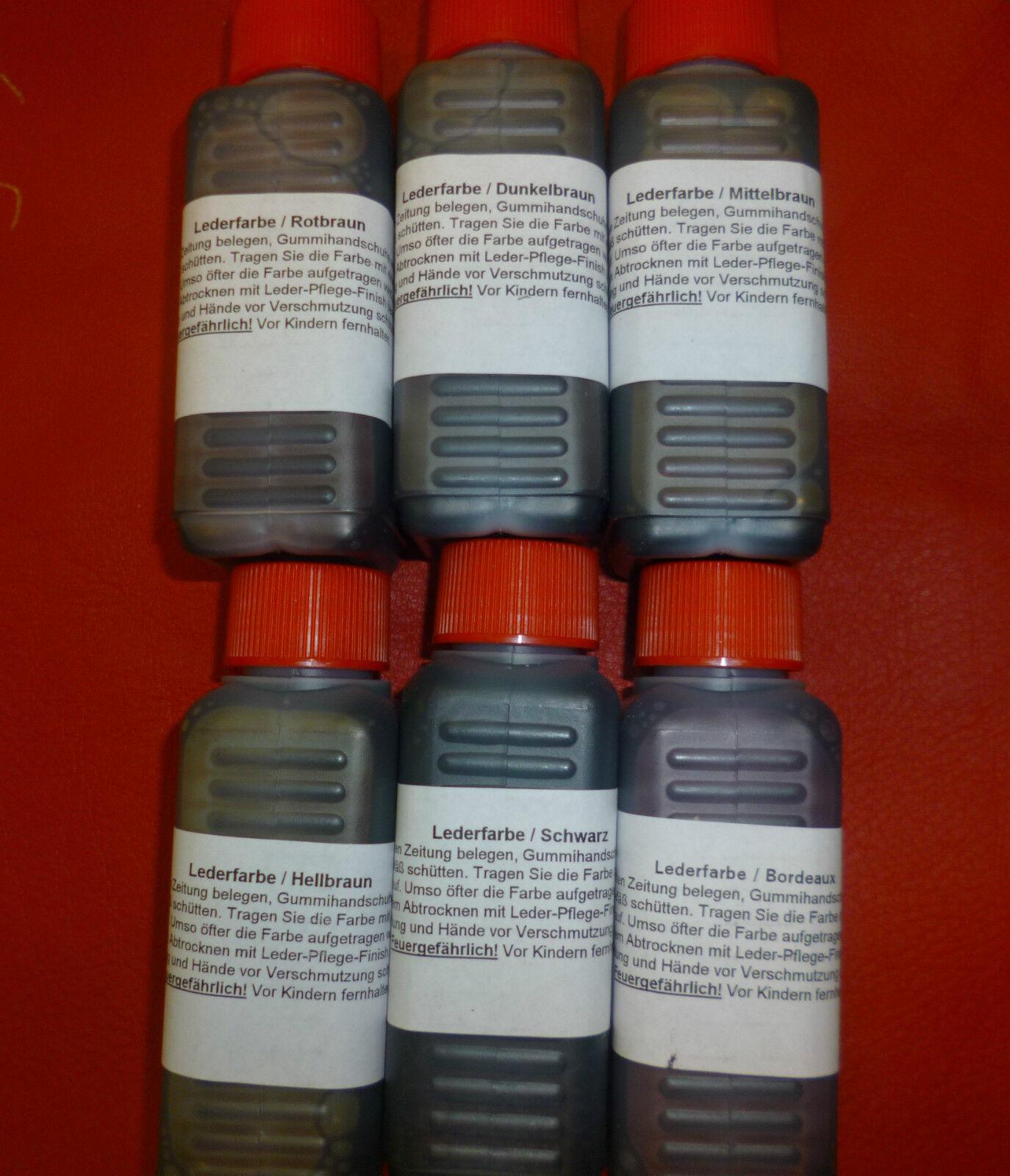 Lederfarbe Lederbeize wie Fiebings leather dye 6 verschiedene Farben erhältlich
